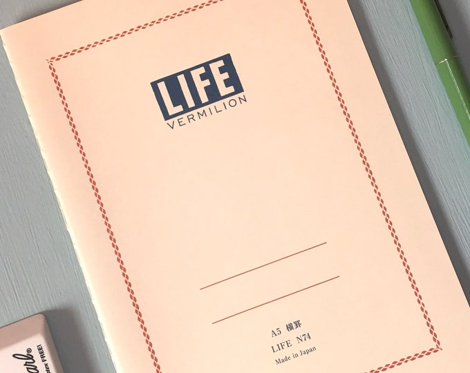 Life Vermilion Notebook (Various Sizes)