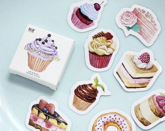 Sweet Cakes 45pc Sticker Box Set