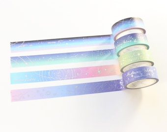Gradient Holographic Galaxy Washi Tape