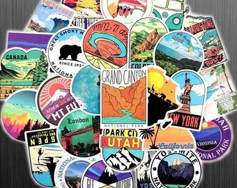 Road Trip Sticker Pack - Travel Stickers - Luggage Sticker - Outdoors Adventures Sticker Bomb