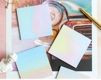 Gradual Change Sticky Notes - Gradient Pastel Notepads