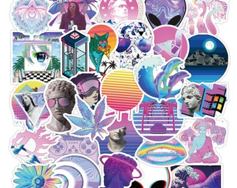 Vaporwave Retro Future Sticker Pack - 80s 90s Aesthetic Random Sticker Bomb - Choose from a Set of 10, 20 or 50