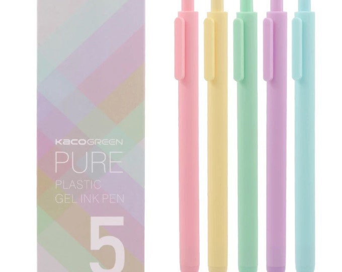 5pk Pure Pastel Gel Ink Pens