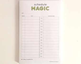 Daily Schedule Magic Planner Notepad