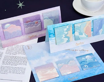 Sweet Dreams 3D Sticky Note Set - 3pc Folding Stationery Notepad Set