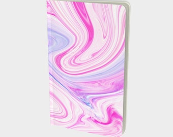 Candy Swirl Notebook - Custom Softcover Notebook - Choose Your Size and Paper Type - Personalized First Page