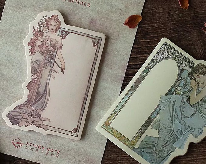 Art Nouveau Sticky Note / Bookmark / Page Marker / Memo Pad