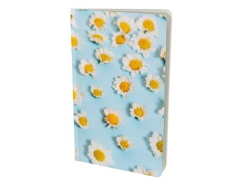 Sweet Daisy Journal - Premium Custom Matte Softcover Notebook - Pink or Blue with Flowers - Choose Your Size and Paper Type