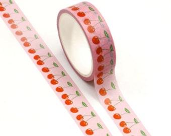 Cherry Print Washi Tape - 15mm x 5m