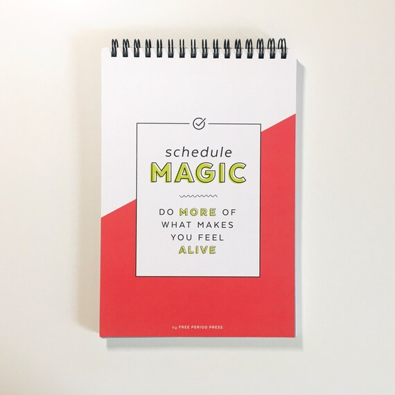 Schedule Magic Daily Planner - Spiral Notebook To-Do List for Home Work Office or School