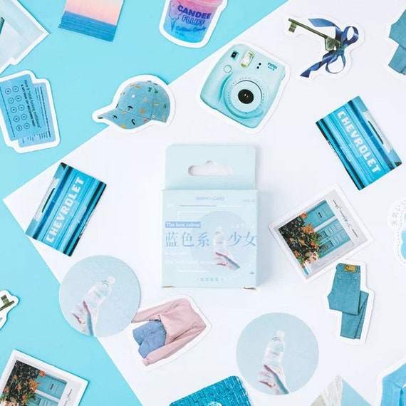 Blue Summer Aesthetic Sticker Box Set