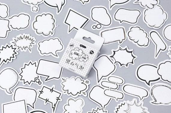 Speech Balloon Paper Sticker Box Set - 45pcs