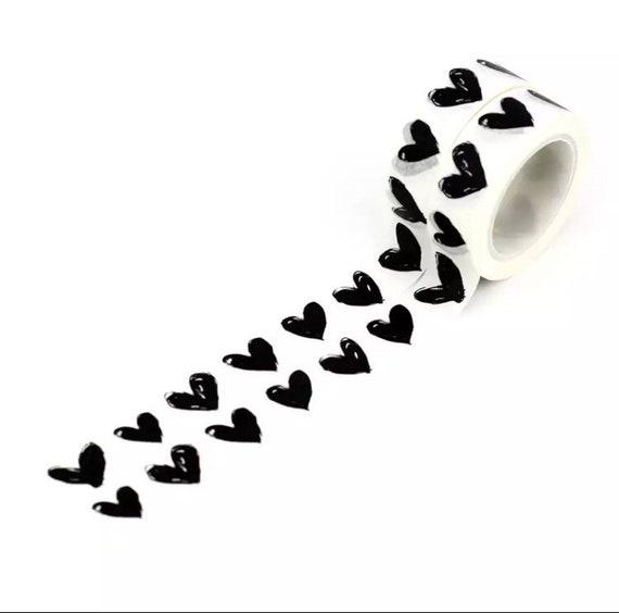 Black Heart Washi Tape - 1.5cm