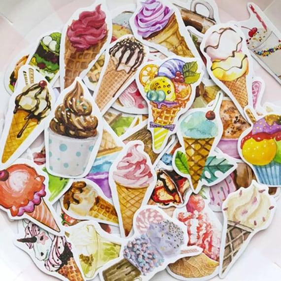 Ice Cream Paper Sticker Box Set - 45pcs