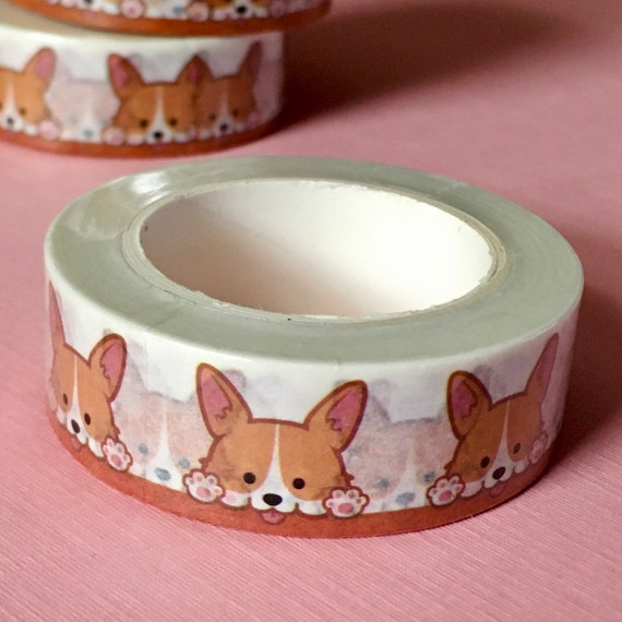Cute Corgi Washi Tape - 1.5cm x 29.5ft