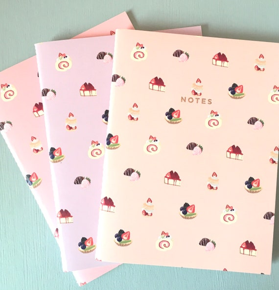 Just Desserts 3pc Journal Collection - Lined / Blank / Bullet Paper