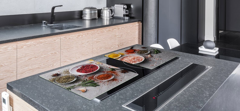 HUGE Tempered Glass Cooktop Cover Asian spices 1