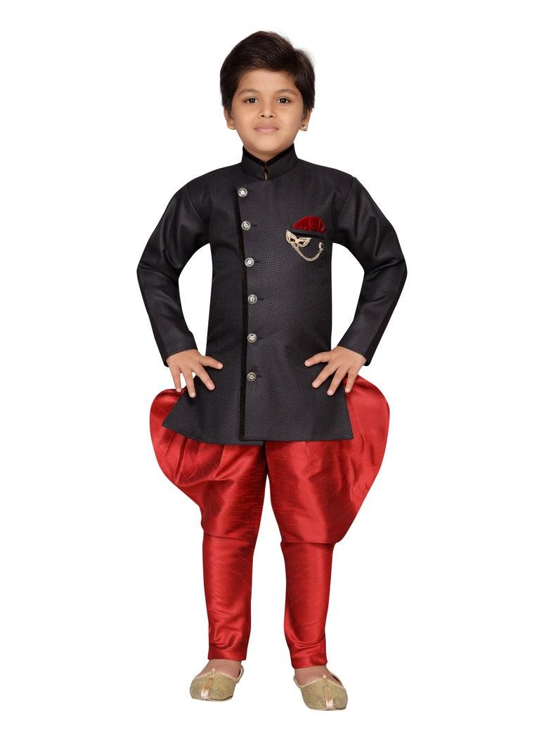 68eb173618 AJ Dezines Kids Indian Wear Sherwani Suit Set For Boys