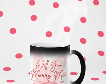 Will You Marry Me? Marriage Proposal Idea Glossy Magic Mug