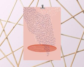 Rain-A4-Illustration-Poster-Art-Decoration-Poster