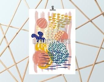 Lochschwojer A6-Illustration-Poster-Art-Decoration-Poster