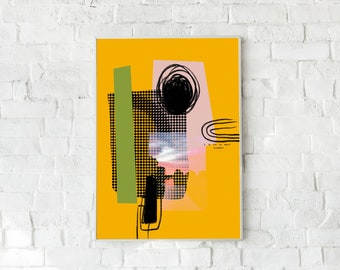 Abstract- A4/A3- Illustration- Poster-Art-Decoration-Poster