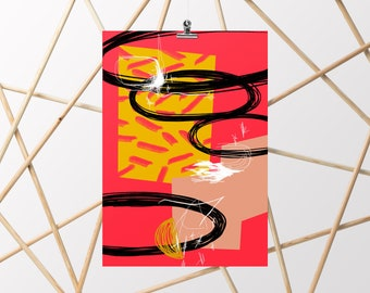 Abstract-A4/A3-Illustration-Poster-Art-Decoration-Poster