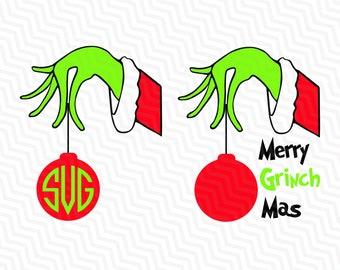 Grinch Hand Xmas, Grinch Svg,Christmas SVG, Merry Grinch Mas svg ,Merry Christmas Svg Dxf Png Jpg Pdf Clipart Cutting File Vinyl Transfer