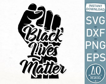 Black Lives Matter Fist Svg Etsy