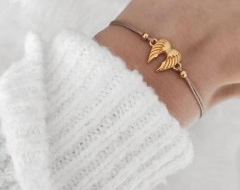 Makramee Armband Engelsflügel Schutzengel Flügel Glücksbringer Geschenk