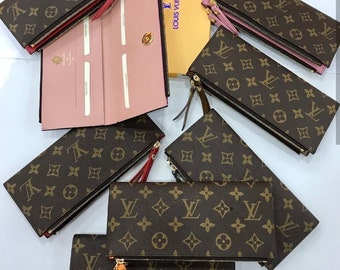 7abbcfad3f Louis Vuitton, LV Adele Wallet, Large Wallet, Genuine leather Cowhide, LV  Checkbook, LV Monogram, Louis Vuitton Clutch, lv Leather Purse,