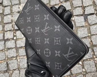 3e39c8b234 Louis Vuitton, LV, portafoglio grande, Genuine Leather Wallet, monogramma  LV, titolare della carta, borsa di monete, borsa di cuoio, idea regalo