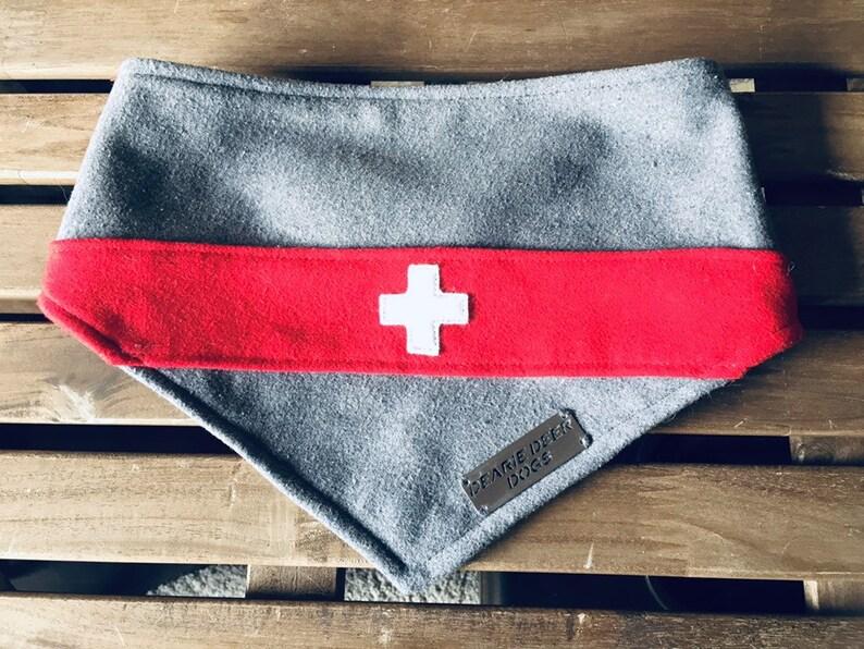 Dog Bandana Swiss Flag