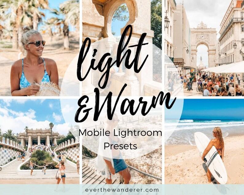 Light & Warm Lightroom CC Mobile Presets/ Filters / Everyday / image 0