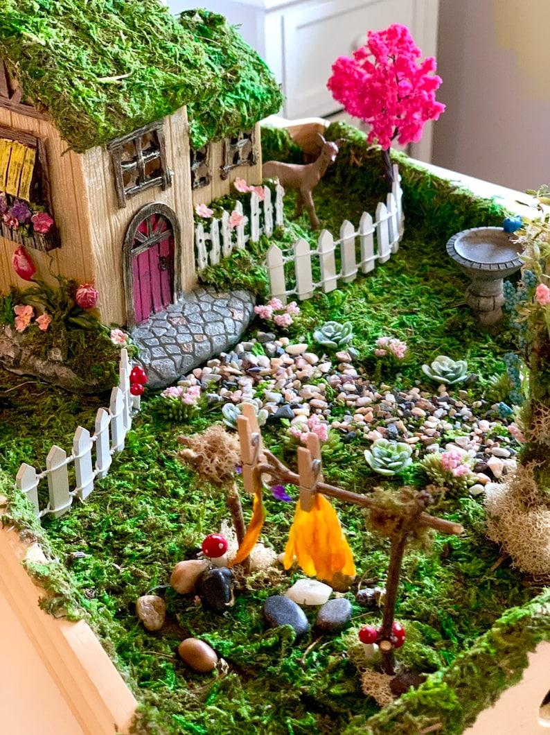 Fairy Garden Fairy Garden House Fairy Fairy Garden Set Fairy Lights DIY Fairy Garden Kit