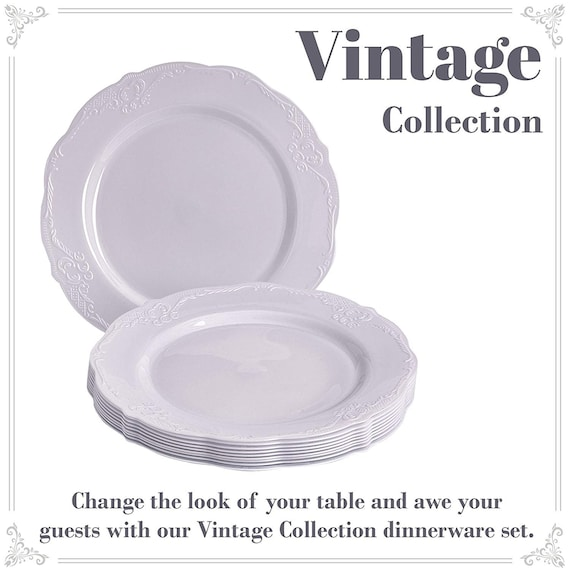 20pc Dinner Thanksgiving Chris DISPOSABLE ROUND CHARGER PLATES Metallic//Gold