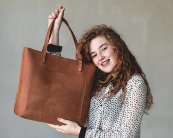 80881f527b0d TOTE bag Leather tote bag Shoulder tote bag Handmade bag Tote bags for  women Leather tote bags with zipper Best tote bags Brown tote