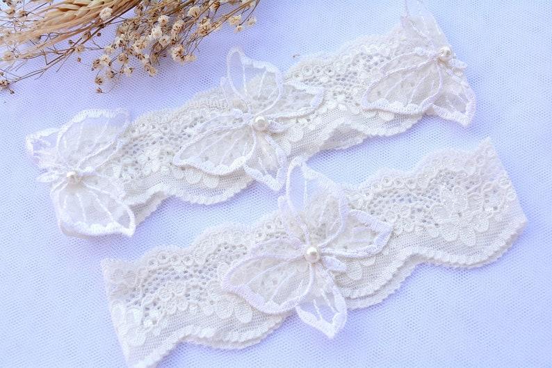 Bridal Lace Garter Set Mint Lace Garter Set Wedding Garters Lace Bridal White Mint Toss Keep Wedding Garter Set Butterflies Stretch Lace