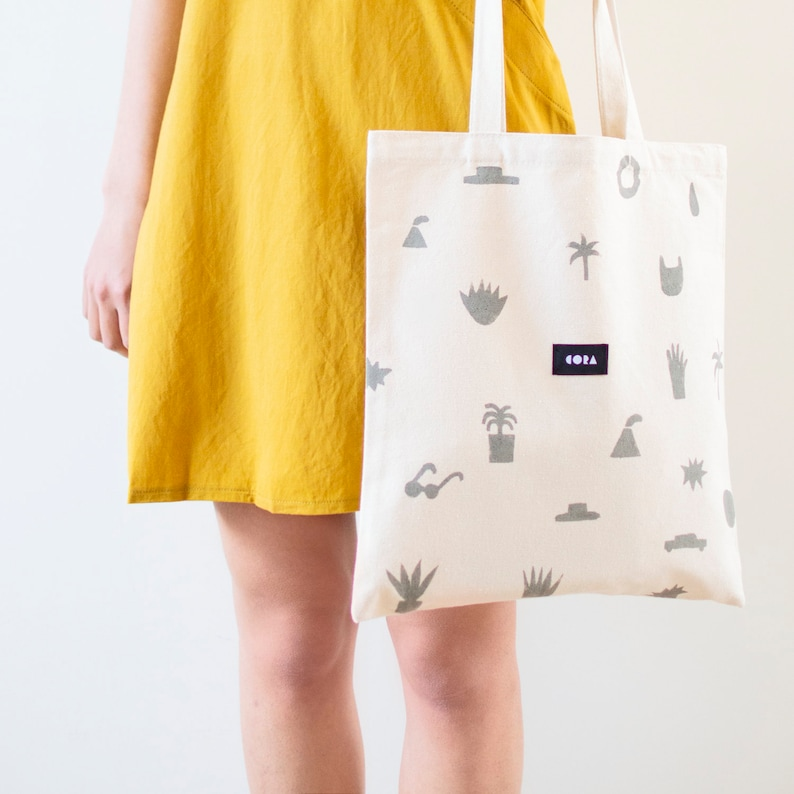 Flat bag tote bag cotton bag fabric bag cotton pouch eco image 0