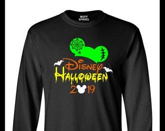 20effefa Mickey Hat Frankenstein Disney Halloween 2019 Epcot Disney Graphic Short or  Long Sleeve Unisex Men's Crew Neck Tee