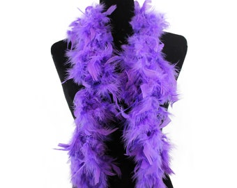 PURPLE 2 Yards; Dress//Bridal//Art//Costume//Halloween THIN MARABOU FEATHER BOA