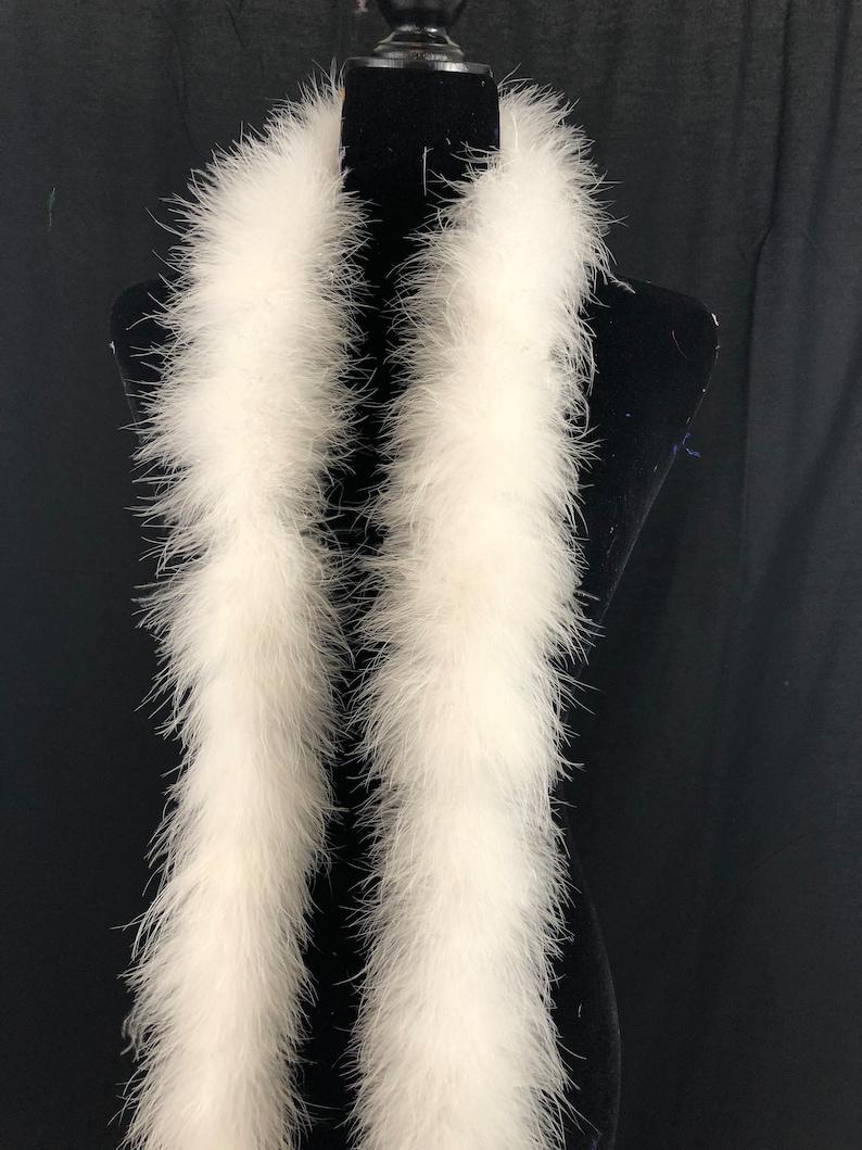 white 30 gram marabou feather boa 2 yard long dancing etsy