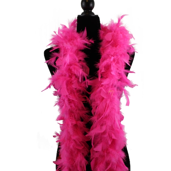 Party//Costume//Halloween HOT PINK 2 Yards NEW 65 Gram CHANDELLE FEATHER BOA