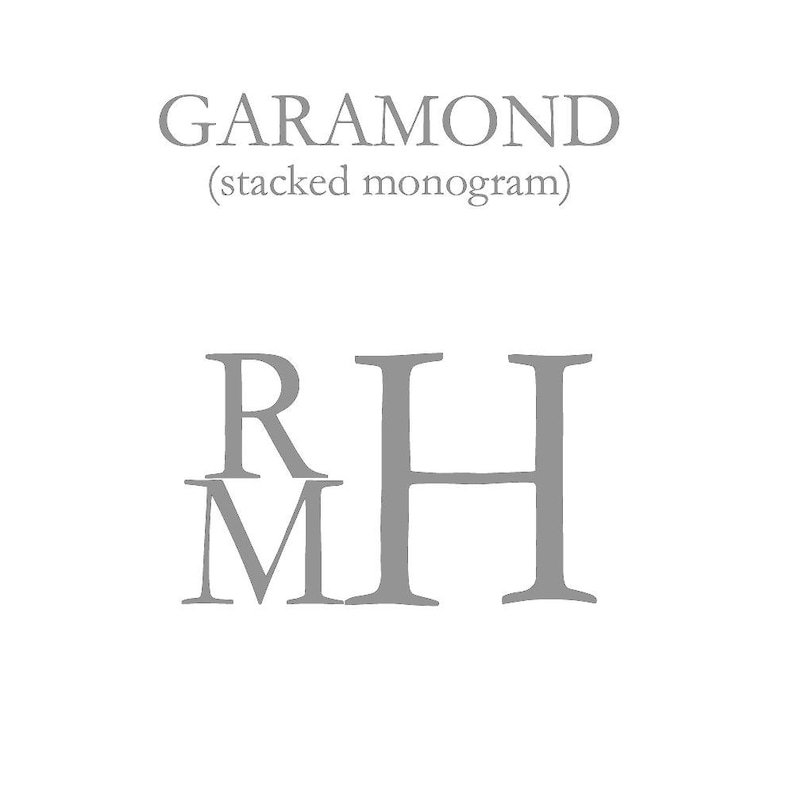 Garamond Font with Charcoal Thread Personalized Gray Mini Stripe Baby Converter Layette Set Name on Hat /& Stacked Monogram on Converter