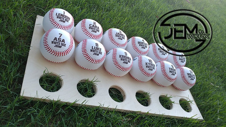 Personalized Baseball Gift Team Game ball Permanently Etched image 0