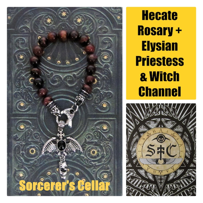 Sorcerer's Cellar: Gothic Hecate Rosary & Elysian Priestess Witch/Channel