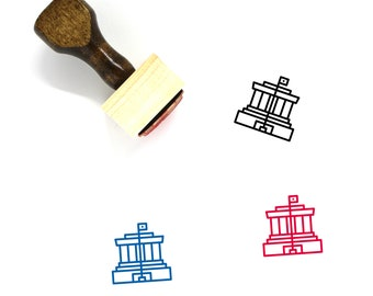 Vietnam with Waving Flag Cute 1 Line Custom Personalized Square Rubber Stamp