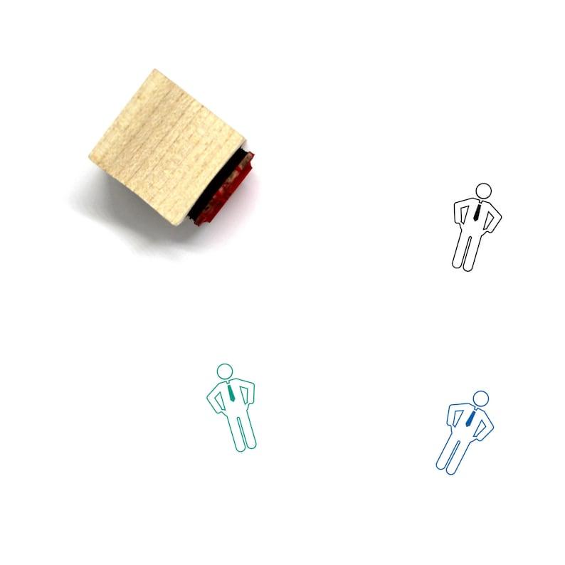 13 Bankrupt Wooden Rubber Stamp No