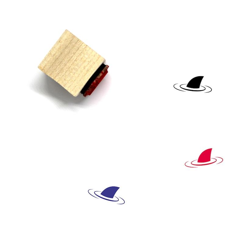 46 Shark Wooden Rubber Stamp No