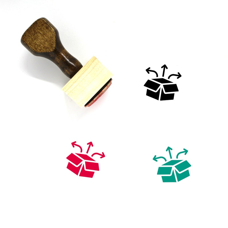 3 Order Processing Wooden Rubber Stamp No